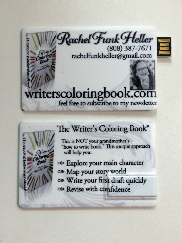 The Writer's Coloring Book USB Drive
